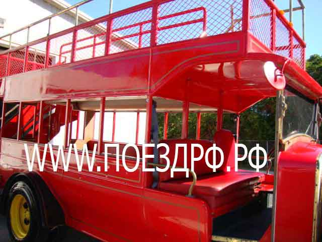 лондон бас,london bus, аттракцион паровозик, дизельный поезд