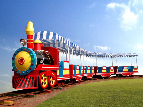 паровозик для парков, паровозик на рельсах, рельсовый паровозик