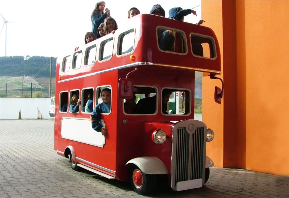 london bus, аттракцион поезд, безрельсовый поезд