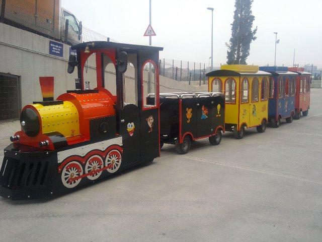 поезд аттракцион, безрельсовый поезд, дизельный поезд, дизельные поезда для парков