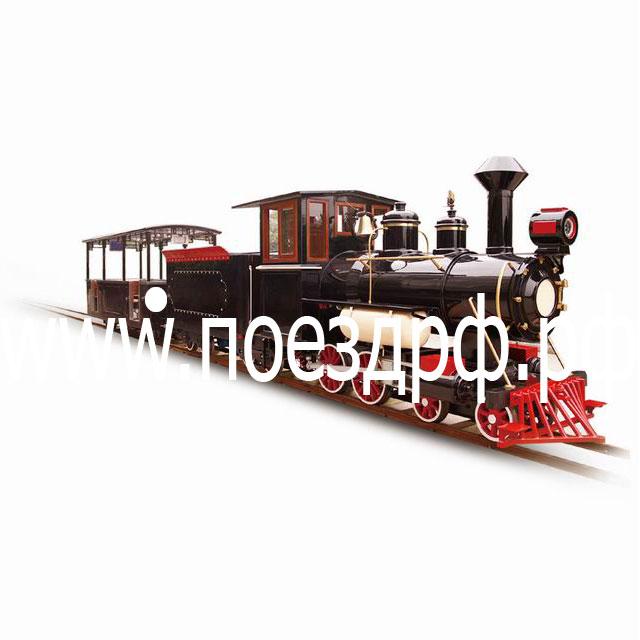 поезд на рельсах, рельсы для поезда, поезд для парк