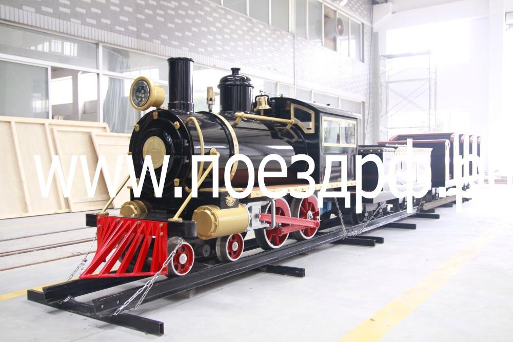 поезд на рельсах, аттракцион поезд на рельсах, рельсы для поезда