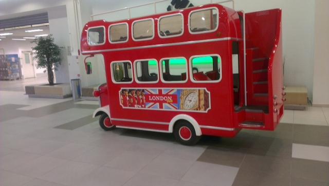 аттракцион автобус, автобус для торговых центров, london bus