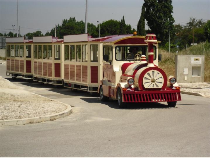 дизельный поезд, поезд аттракцион, london bus