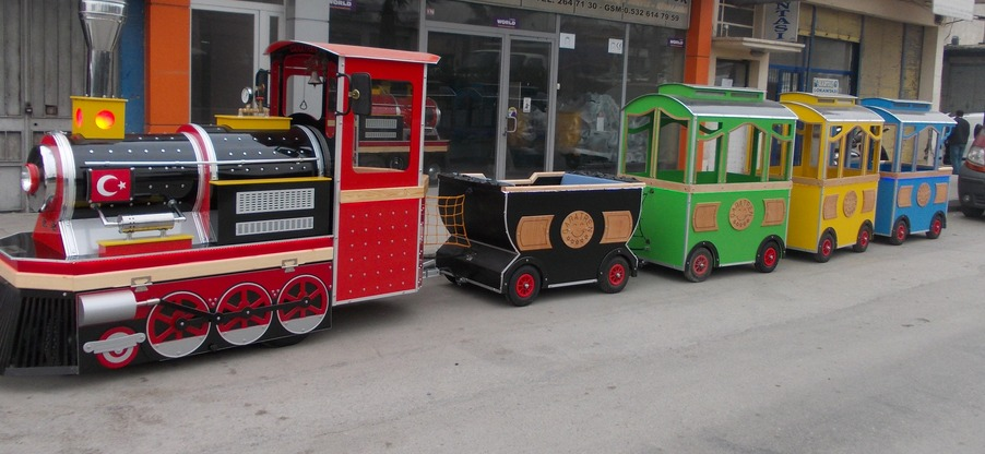 аттракцион паровозик, поезд аттракцион, безрельсовый поезд, london bus